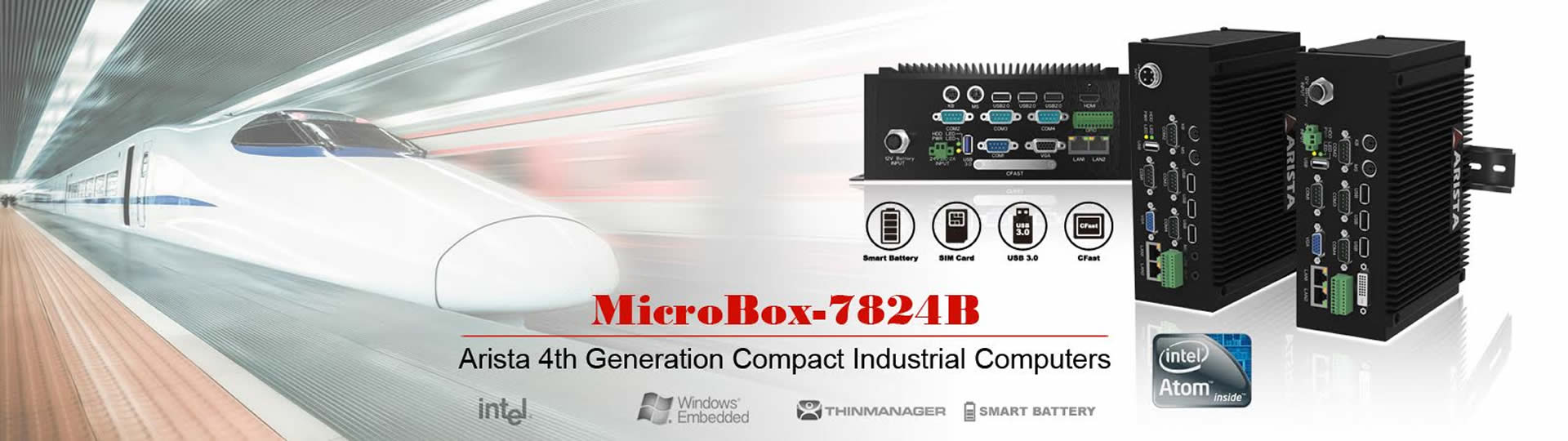 Compact Industrial Computer - Microbox-7824B