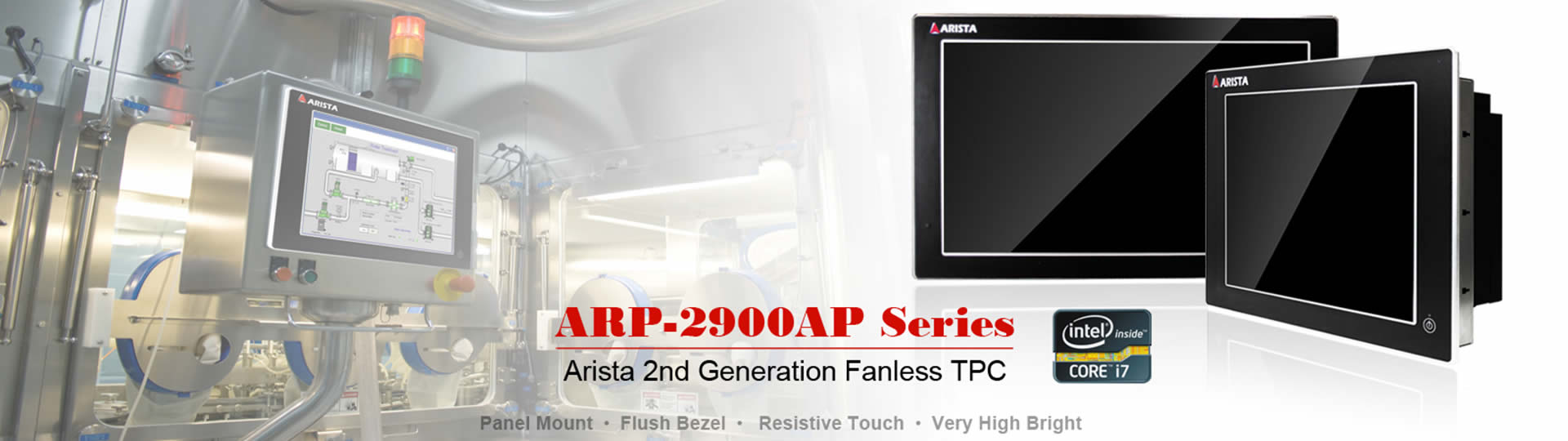 Fanless Touch Panel PCs ARP-2900AP Series