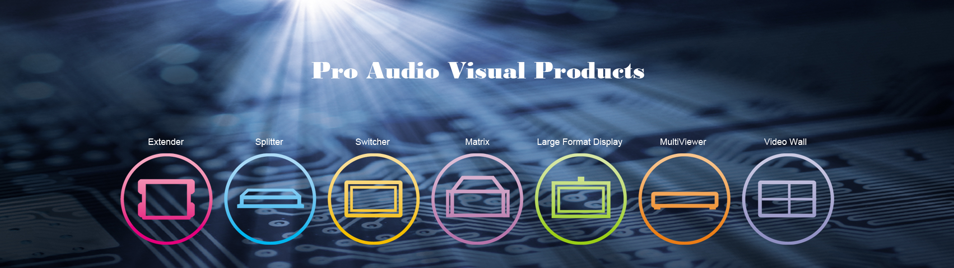 Pro Audio Visual Products